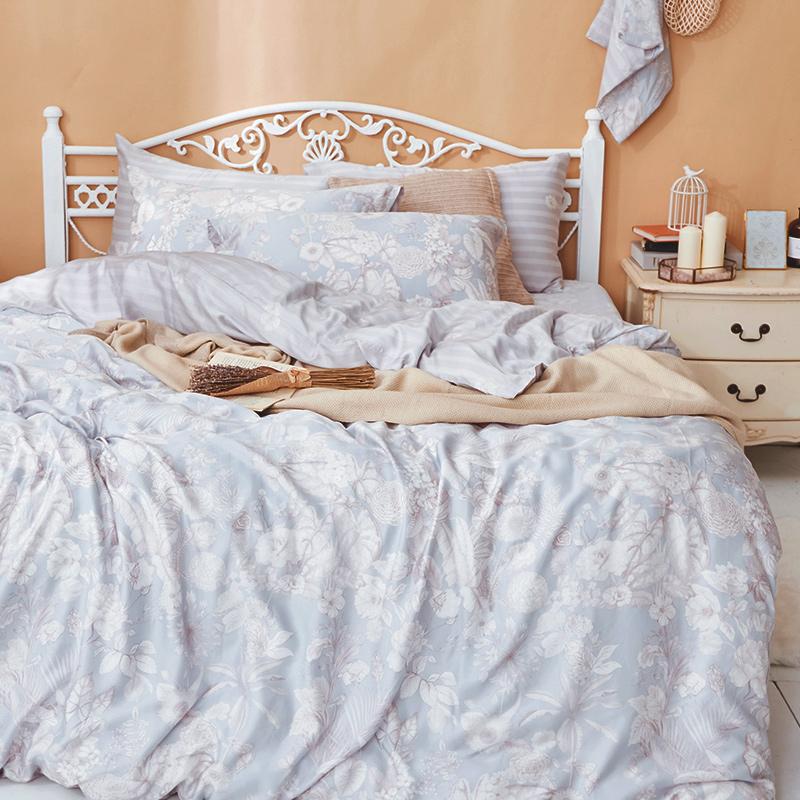 床包/雙人加大【瓦勒莉】60支天絲雙人加大床包含二件枕套