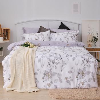 床包/雙人加大【凜冬果實】40支天絲雙人加大床包含二件枕套