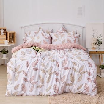 床包/雙人加大【粉藤呢喃】40支天絲雙人加大床包含二件枕套