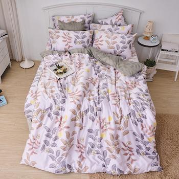 床包/雙人加大【蔓葉舞曲】60支天絲雙人加大床包含二件枕套