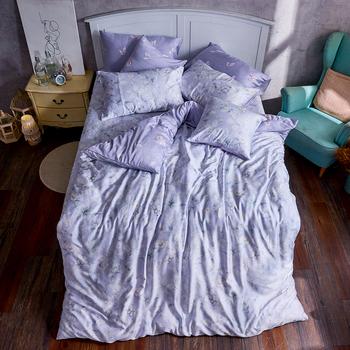床包/雙人加大【芋見花季】60支天絲雙人加大床包含二件枕套