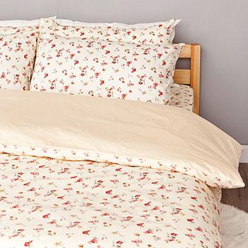 床包/雙人特大【田園童話】100%精梳棉雙人特大床包含兩件枕套
