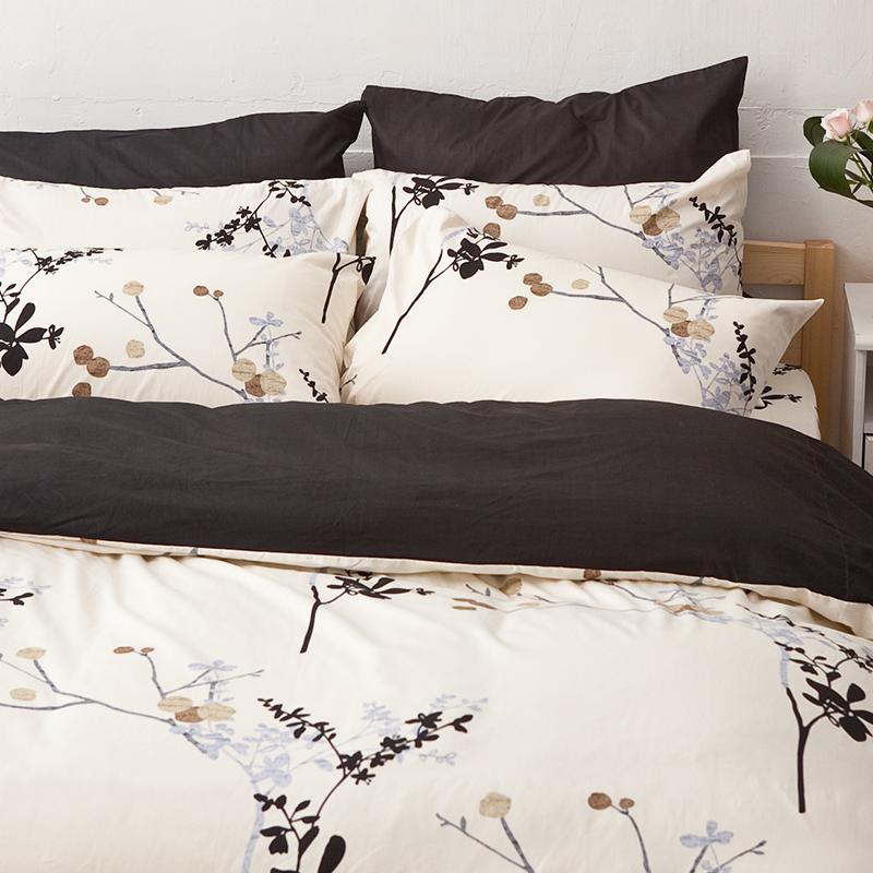 床包/雙人特大【京都物語】100%精梳棉雙人特大床包含兩件枕套