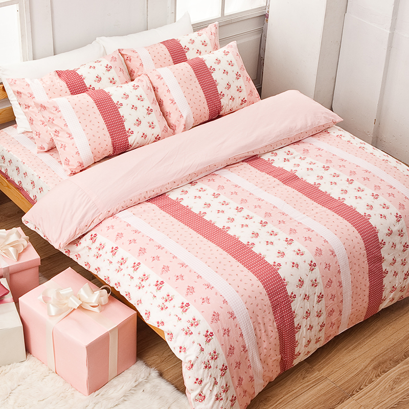 床包/雙人特大【貴族花園】100%精梳棉雙人特大床包含兩件枕套