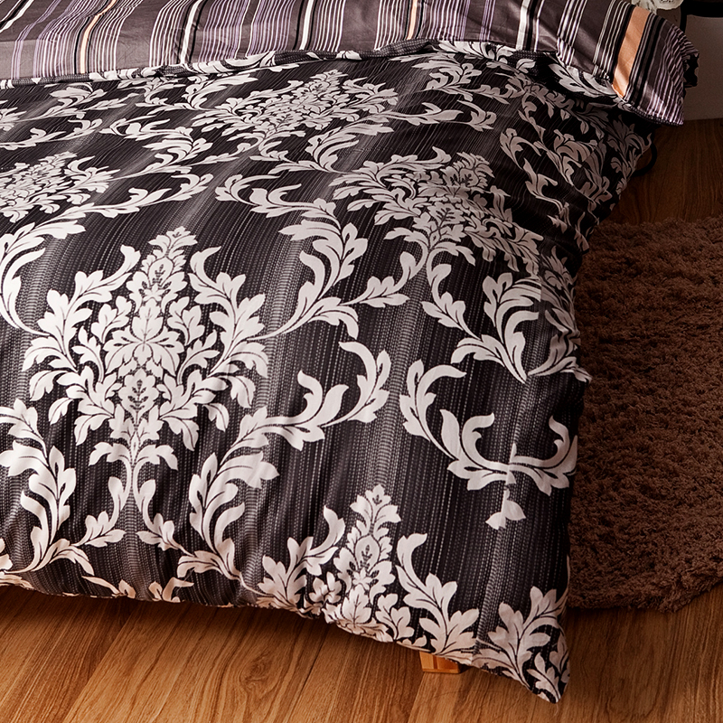 床包/雙人特大【經典皇家黑】100%精梳棉雙人特大床包含兩件枕套