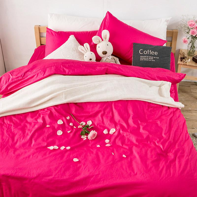 床包/雙人特大【簡單生活系列-玫瑰花瓣】100%精梳棉雙人特大床包含兩件枕套