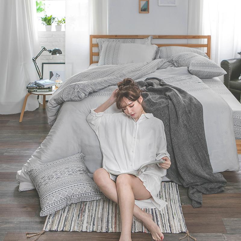床包/雙人特大【爵色風華】60支天絲雙人特大床包含二件枕套
