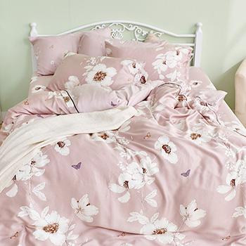 床包/雙人特大【嫣粉】40支天絲雙人特大床包含二件枕套