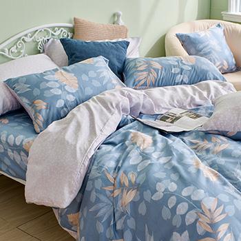 床包/雙人特大【笙笙悠林】40支天絲雙人特大床包含二件枕套