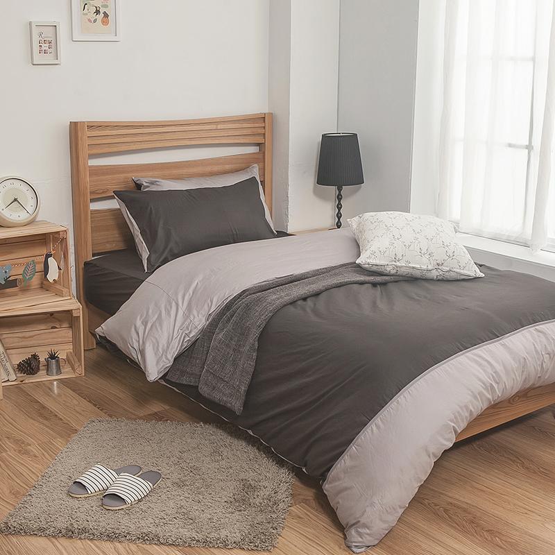 枕頭套/一入【簡單生活系列-雙灰】100%精梳棉美式信封枕套