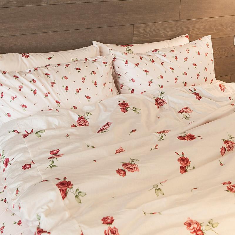 枕頭套/一入【小玫果雪酪粉】100%精梳棉美式信封枕套