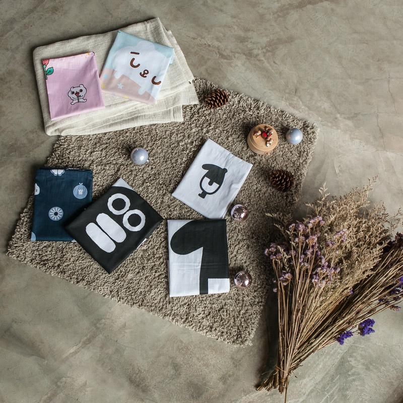 枕頭套/兩入【經典黑白款-馬來貘的日常-小來貘】100%精梳棉美式信封枕套