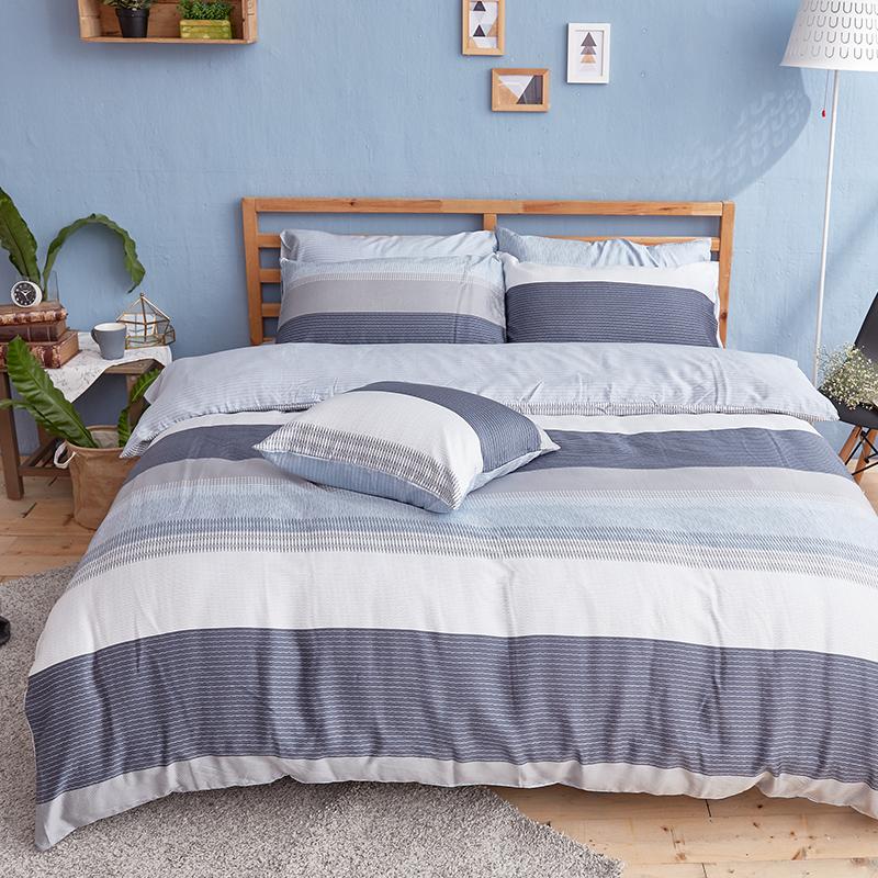 枕頭套/一入【靛藍旋律】40支天絲美式信封枕套