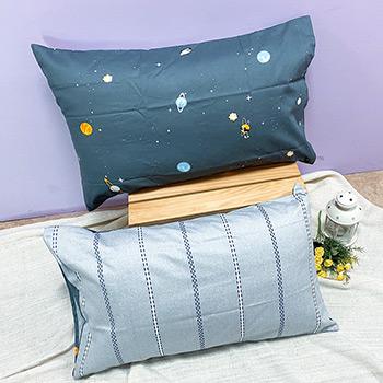 枕頭套/一入【宇宙之旅】美式信封枕套精梳純棉