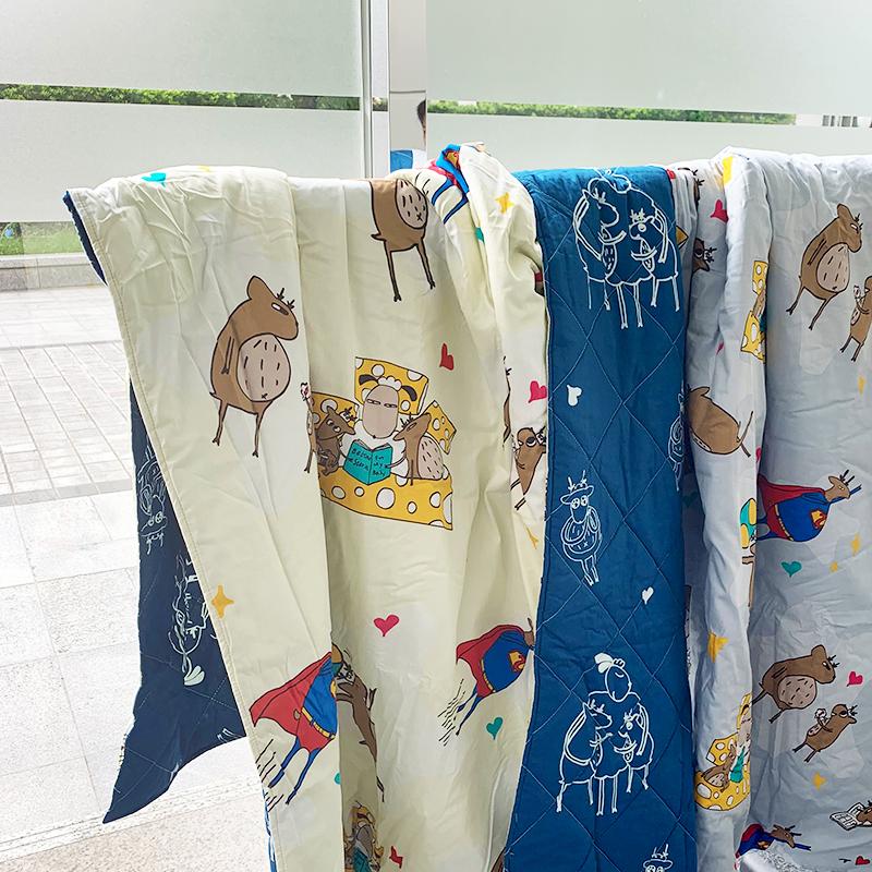 涼被/雙人【迷路的床邊故事-米】100%精梳棉雙人涼被