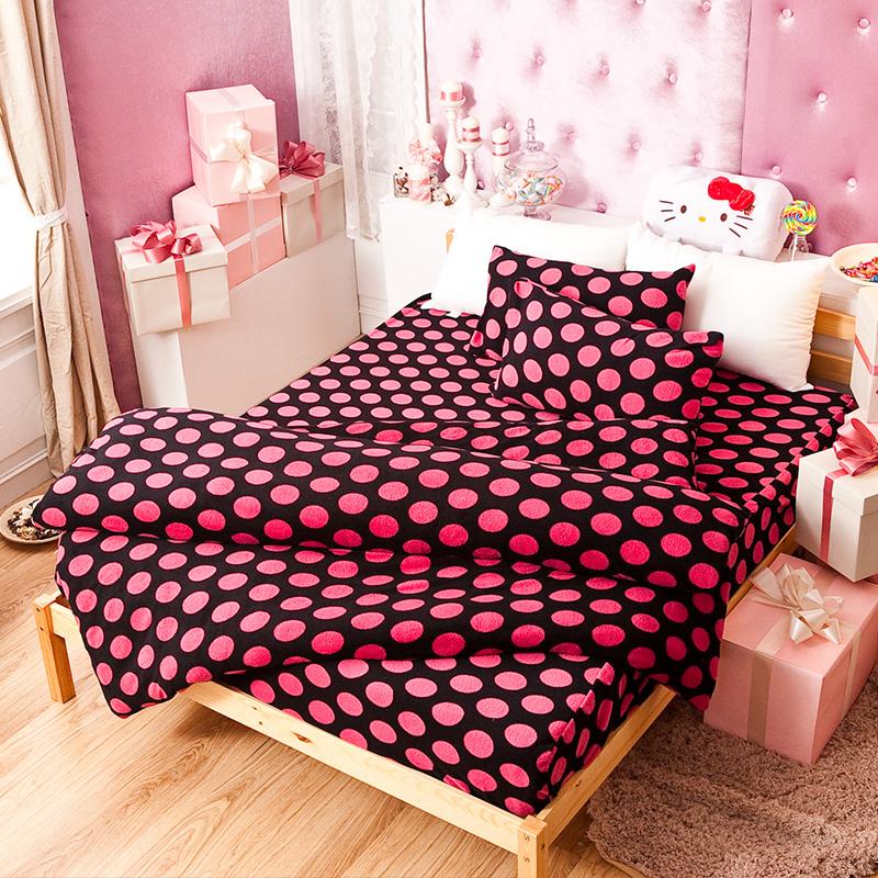 搖粒絨/單人【個性尤物】單人床包兩用毯組
