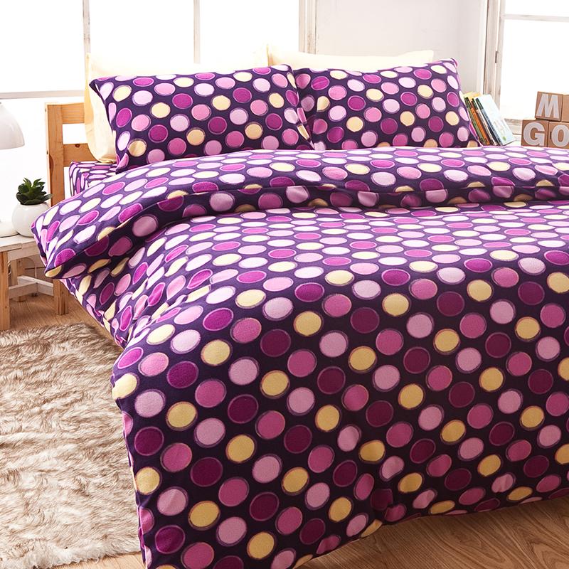 搖粒絨/單人【神秘普普】單人床包兩用毯組