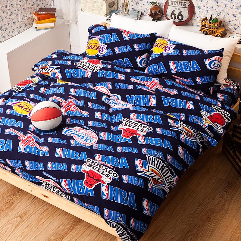 搖粒絨/雙人【NBA】雙人床包兩用毯組