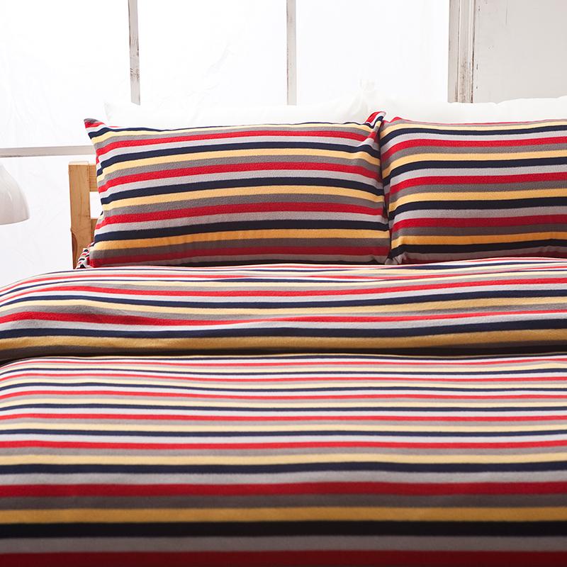 搖粒絨/雙人【經典特調】雙人床包兩用毯組