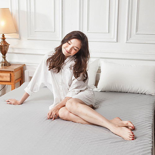 記憶床墊/雙人蛋型【吸濕排汗備長炭記憶床墊】5x6.2尺5CM吸濕排汗鳥眼布套