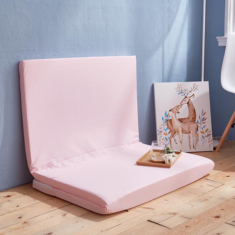 透氣床墊/單人【樂芙直立棉三折式透氣床墊-粉色】3x6尺5CM