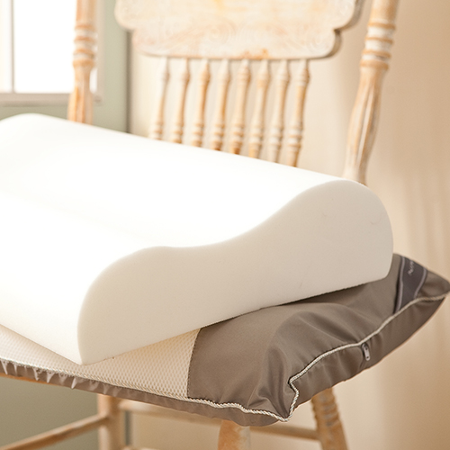 枕頭/記憶枕【3D透氣網釋壓記憶枕】表布透氣網人體工學設計