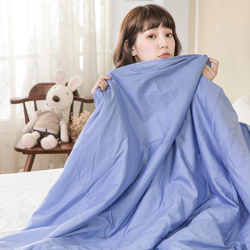 棉被/雙人【雪紡涼感紗涼被-藍】吸濕排汗天然材質柔順纖維