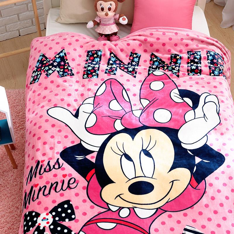 法蘭絨大毛毯【迪士尼-粉色米妮】雙人大毛毯