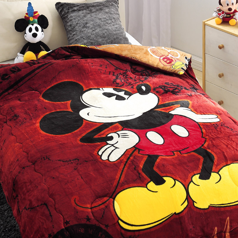 法蘭絨大毛毯【迪士尼-咖啡米奇】雙人大毛毯