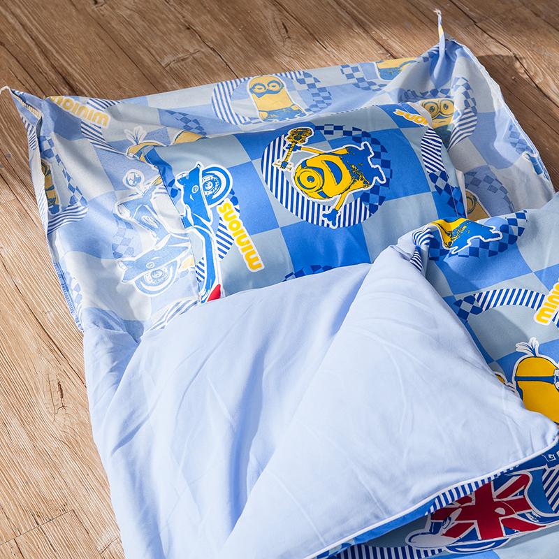 標準睡袋【小小兵壞蛋來了】高密度磨毛布標準幼教睡袋