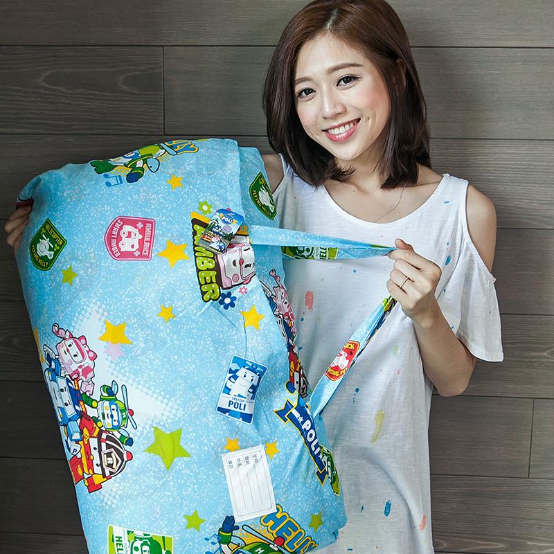 標準睡袋【波力救援小英雄藍】高密度磨毛布標準幼教睡袋