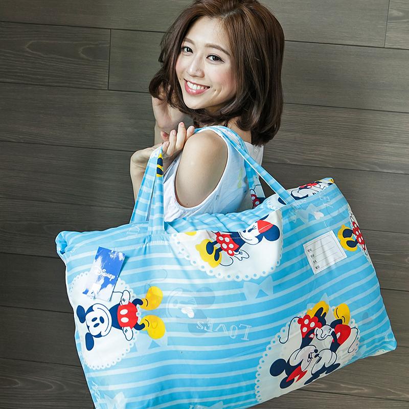 標準睡袋【米奇手牽手藍】高密度磨毛布標準幼教睡袋