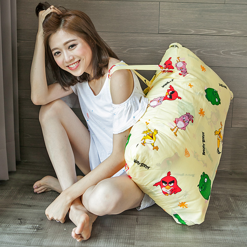 標準睡袋【憤怒鳥黃】高密度磨毛布標準幼教睡袋