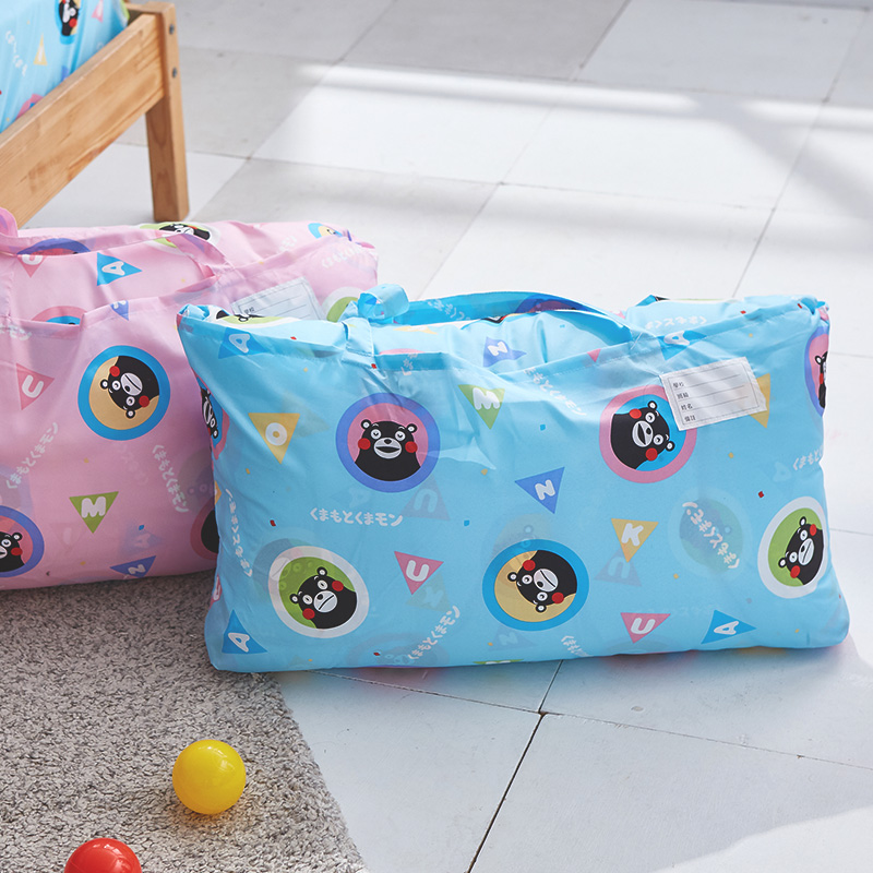 標準睡袋【熊本熊樂園藍】高密度磨毛布標準幼教睡袋