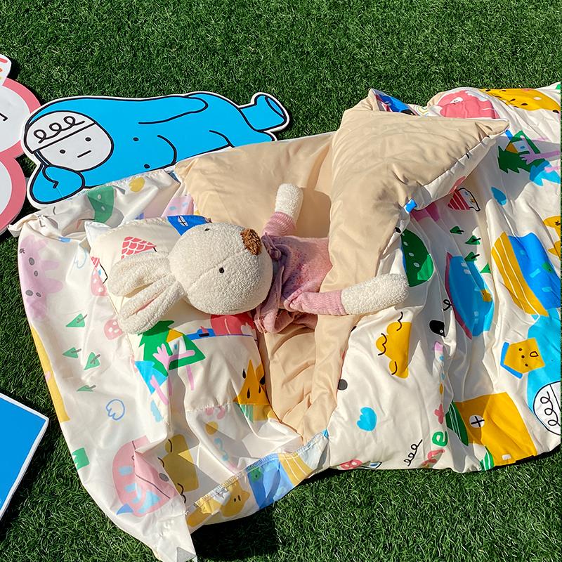 標準睡袋/【Sweethome甜蜜的家】高密度磨毛布兒童睡袋喂,wei聯名款