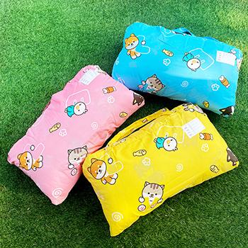 標準睡袋【逗柴貓黃】高密度磨毛布標準幼教睡袋