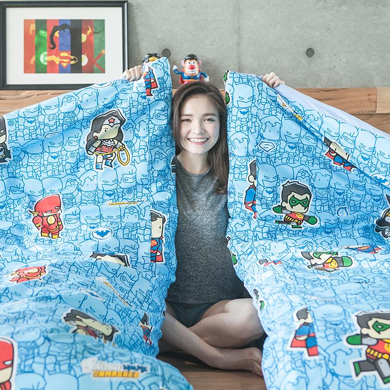 床包/單人【正義曙光】高密度磨毛布單人床包含一件枕套