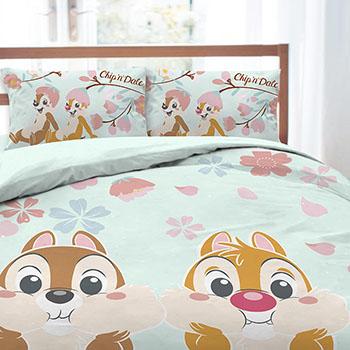 床包/單人【奇奇蒂蒂-櫻花季系列】單人床包含一件枕套