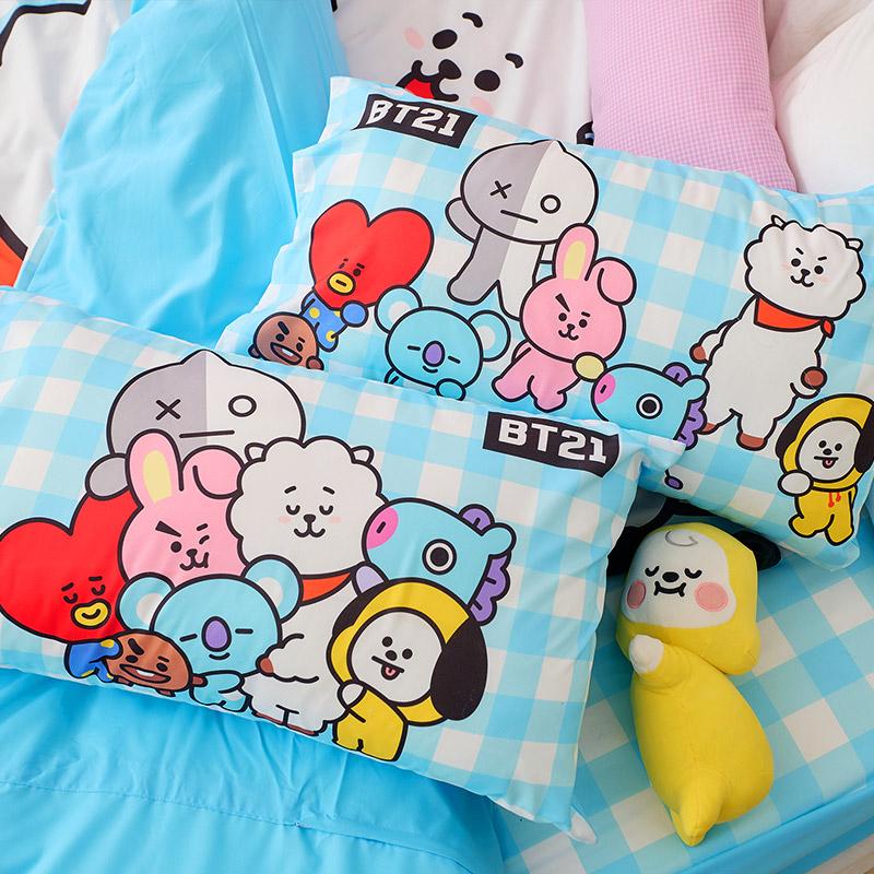 床包/單人【BT21全體總動員系列】單人床包含一件枕套