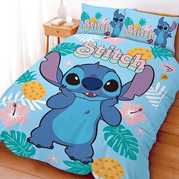 床包/單人【迪士尼-史迪奇阿囉哈】單人床包含一件枕套
