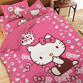 床包/雙人【KT經典甜美】雙人床包含二件枕套