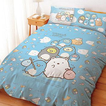 床包/雙人【角落小夥伴/角落生物冰原歷險】雙人床包含二件枕套