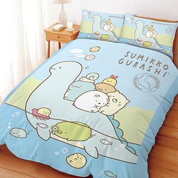 床包/雙人【角落小夥伴/角落生物恐龍世紀】雙人床包含二件枕套