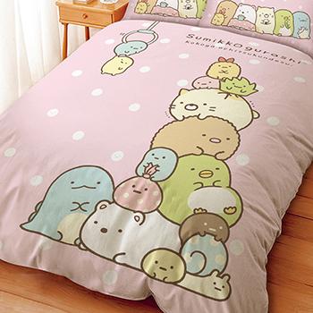 床包/雙人【角落小夥伴/角落生物夾夾樂粉】雙人床包含二件枕套