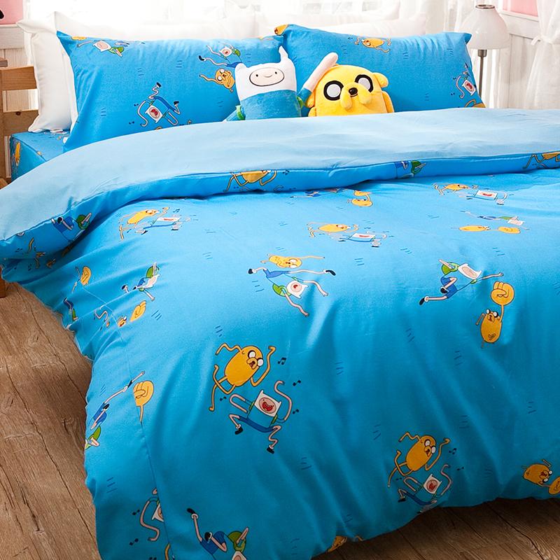 床包/雙人加大【探險活寶-歌唱篇】高密度磨毛布雙人加大床包含兩件枕套
