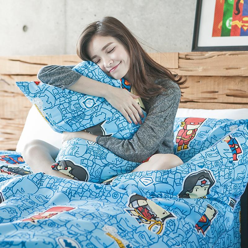 床包/雙人加大【正義曙光】高密度磨毛布雙人加大床包含兩件枕套