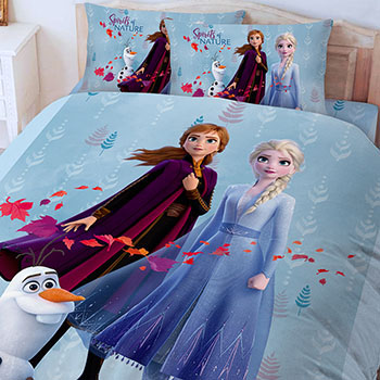 床包/雙人加大【冰雪奇緣-秋日之森系列】雙人加大床包含二件枕套