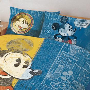 床包/雙人加大【迪士尼米奇復古版】雙人加大床包含二件枕套
