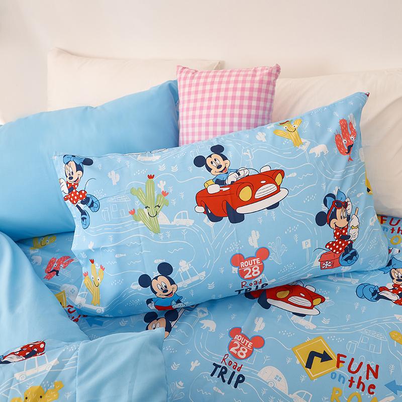 床包/雙人加大【米奇-公路旅行】雙人加大床包含二件枕套