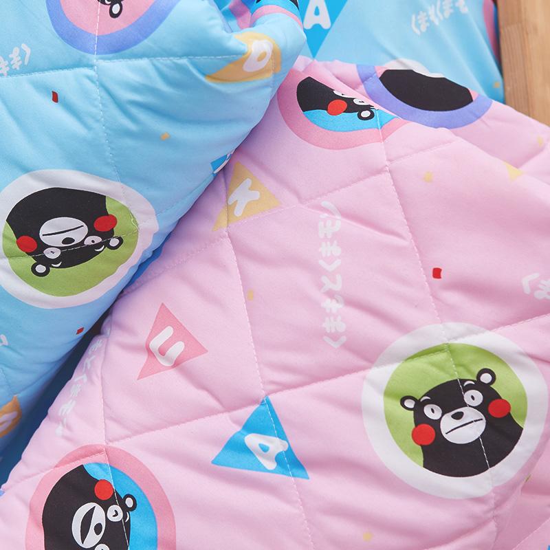 涼被/單人【熊本熊樂園粉】高密度磨毛布單人涼被